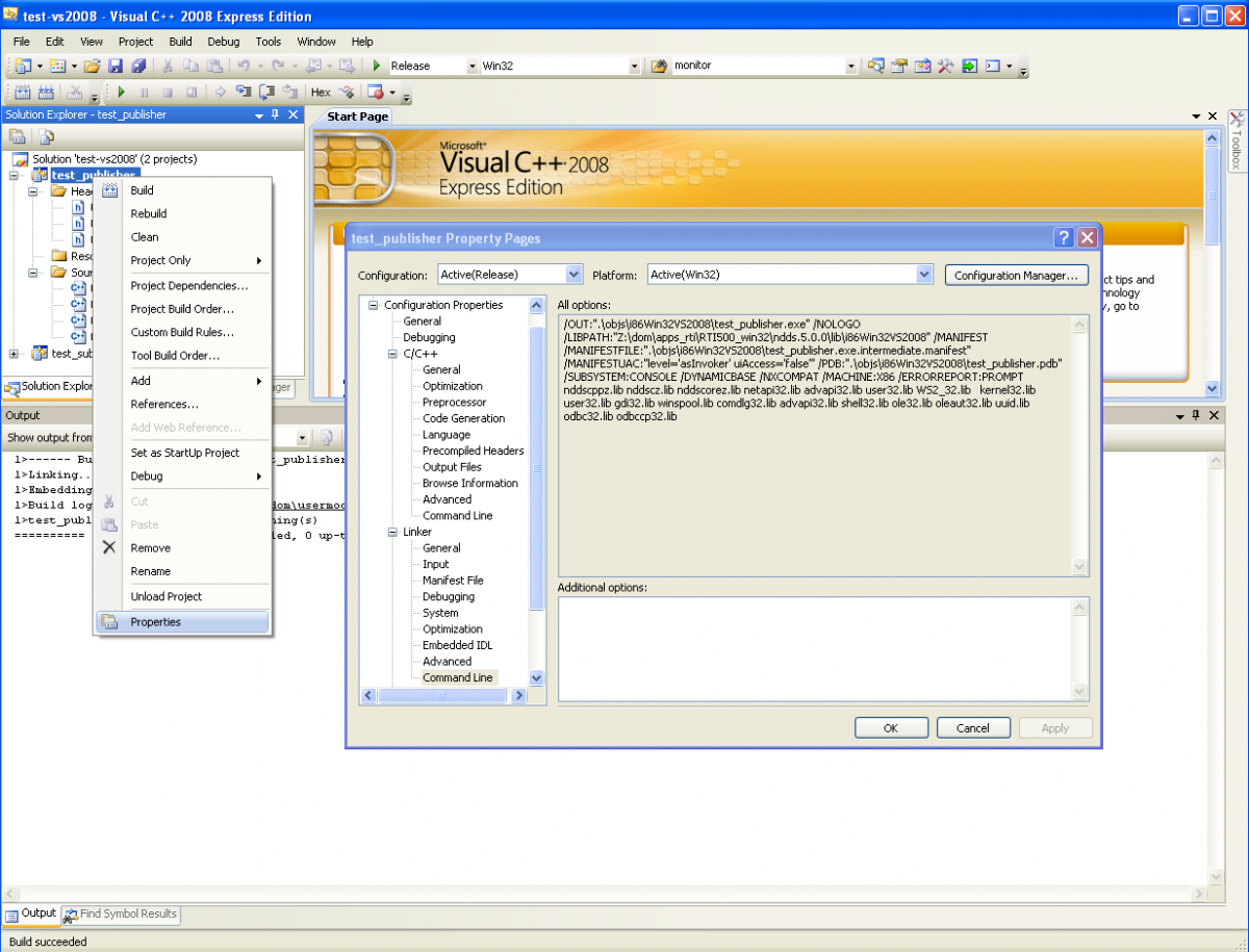 Visual Studio 2008 Screeenshot