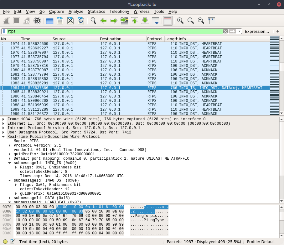 Wireshark RTPS Dissector