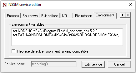 Windows Service Environment Variables