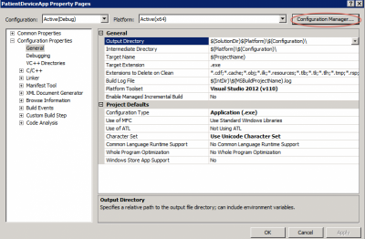 Project Properties -> Configuration Manager